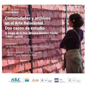 Conferencia De Mónica Benítez | Comunidades Y Archivos En El Arte Relacional