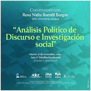 Conversatorio Con Rosa Nidia Buenfil Burgos