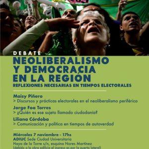 Debate | NEOLIBERALISMO Y DEMOCRACIA EN LA REGIÓN