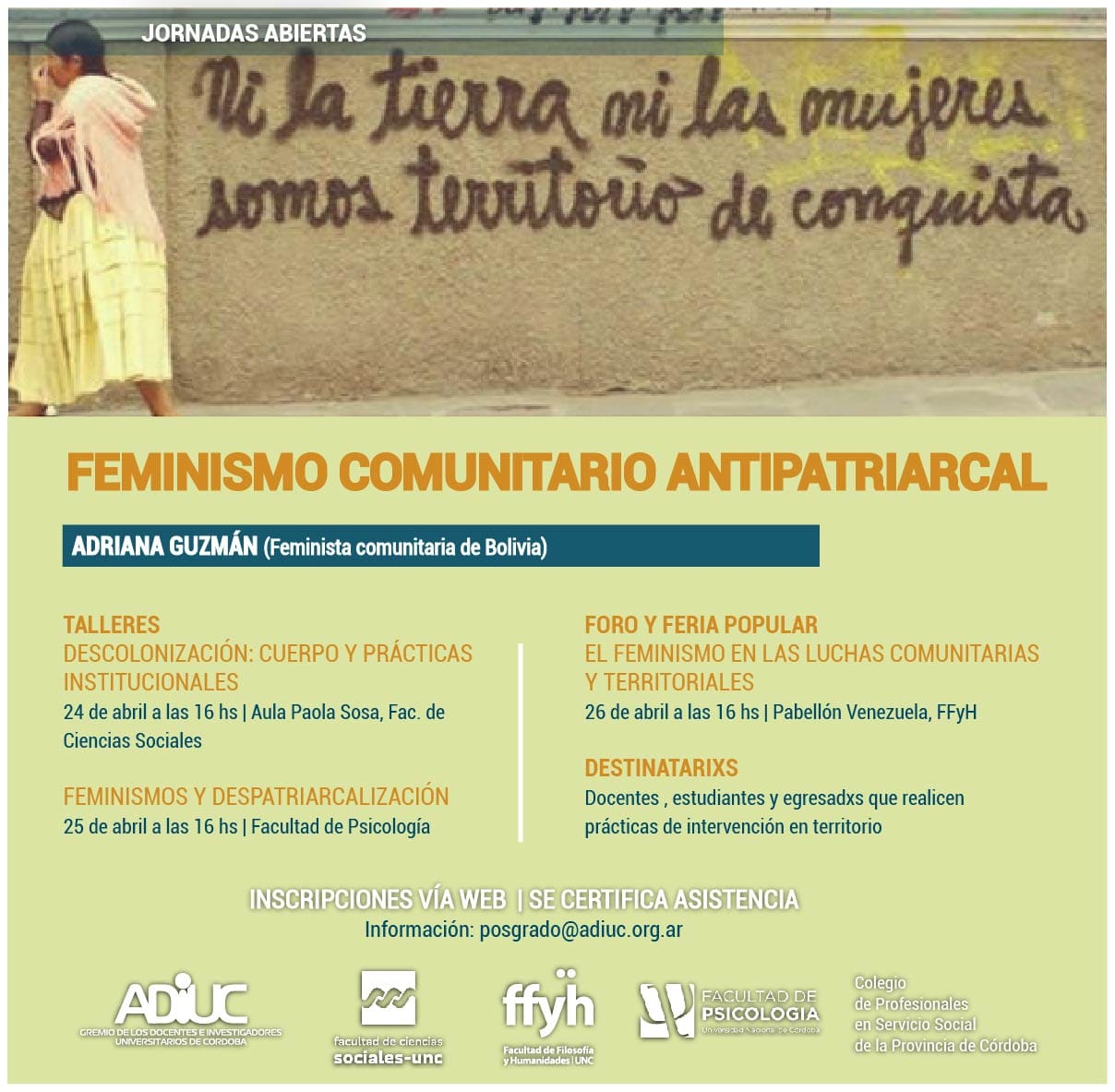 Jornadas de Feminismo Comunitario Antipatriarcal | Con Adriana Guzmán
