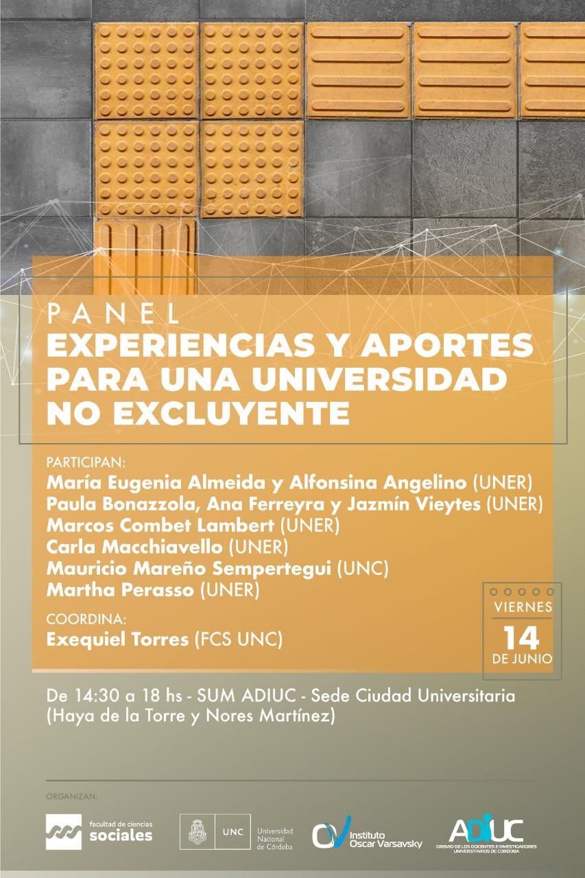Panel: Experiencias y aportes para una universidad no excluyente