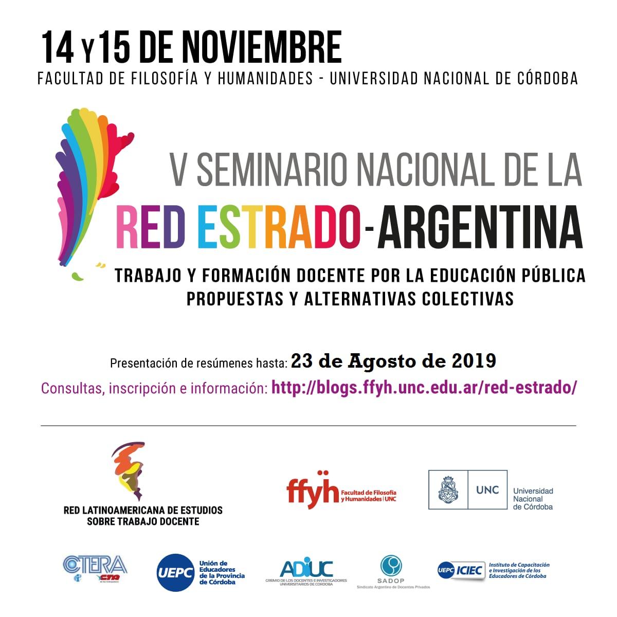 V Seminario Nacional de la RED ESTRADO Argentina