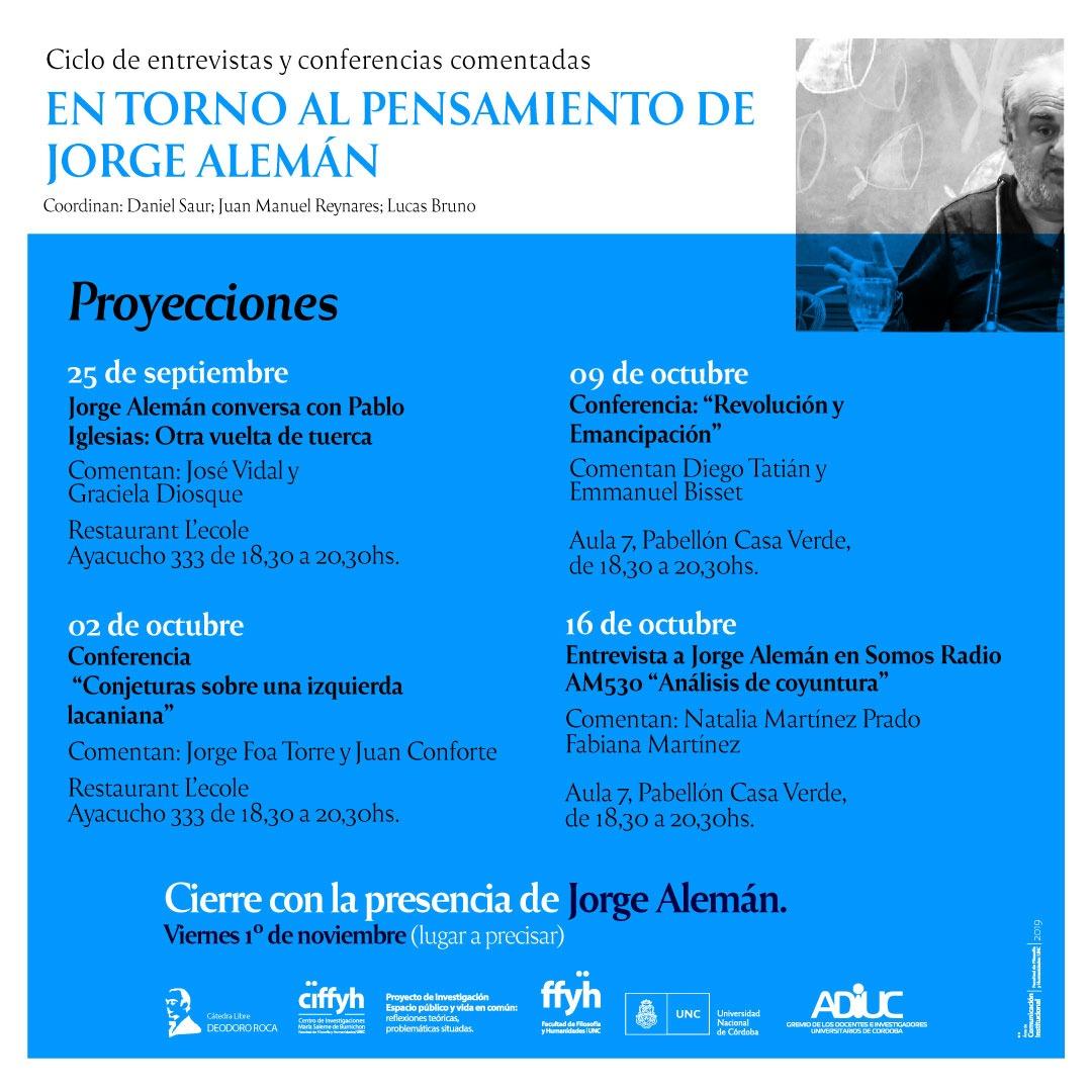 En torno al pensamiento de Jorge Alemán | Ciclo de entrevistas y conferencias comentadas