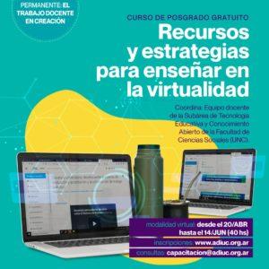 Recursos Y Estrategias Para Enseñar En La Virtualidad | Curso De Posgrado Gratuito
