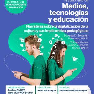 MEDIOS, TECNOLOGÍAS Y EDUCACIÓN | Seminario De Posgrado Gratuito