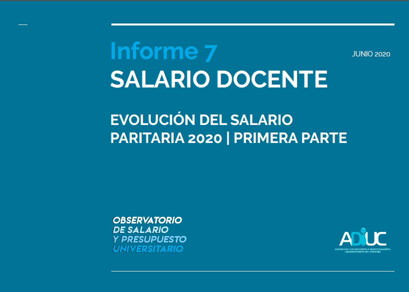Informe Salario Docente (Paritaria 2020)