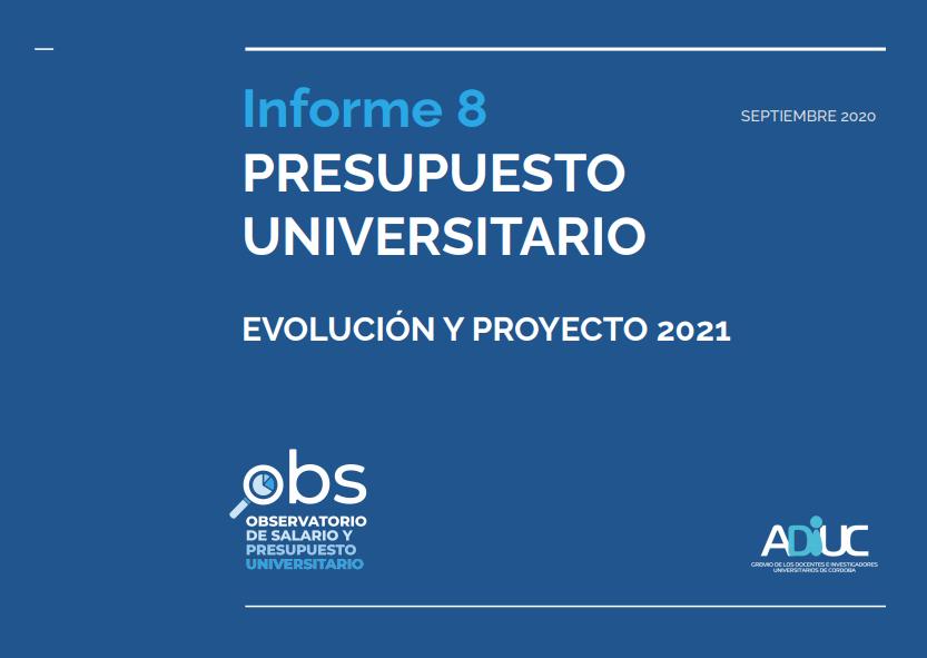 Informe Presupuesto Universitario