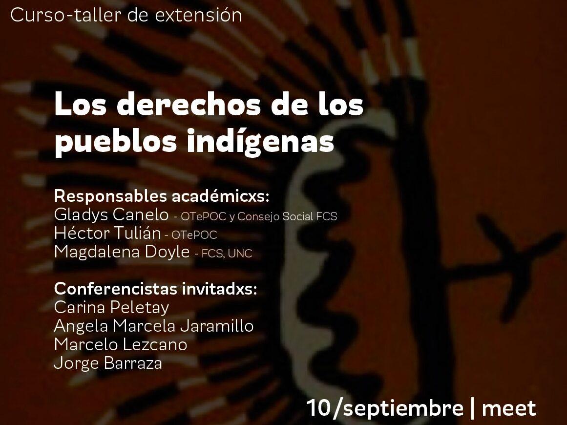 """Curso-taller de extensión: """"Los derechos de los pueblos indígenas"""""""