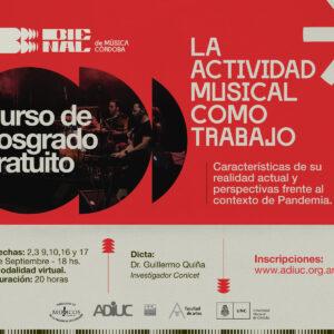 LA ACTIVIDAD MUSICAL COMO TRABAJO | Curso De Posgrado Gratuito